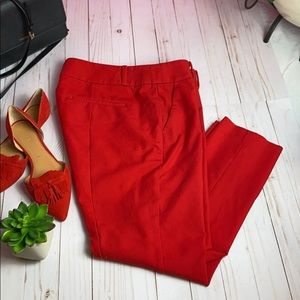 Like new LOFT MARISSA SKINNY PANTS RED SZ 12